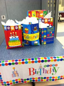 Some of the birthday gifts for the teens at Auberle!